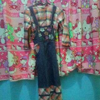 Baju muslim untuk 6/7thn merk balqees