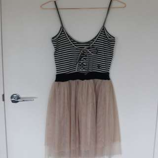 Milk & Honey chiffon skirt ballerina dress