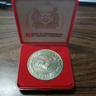 1981 S$10 Rooster Coin