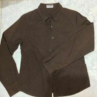 Kemeja Giordano Original Dark Brown