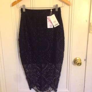 BNWT Black Lace Skirt