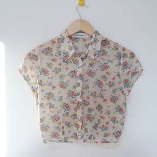 Editor's Market Vintage Flower Crop Top