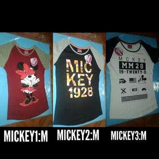 MICKEY & MINNEY SHIRTS