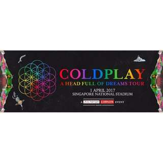 COLDPLAY - A Head Full of Dreams Tour in Singapore (April 1st 2017)