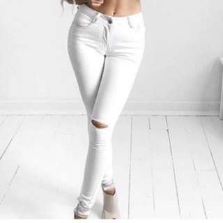 Refuse High Waisted Skinny Jeans