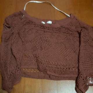 Crochet Cropped Batwing