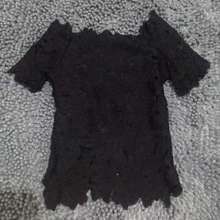 Black Prada Sabrina Top