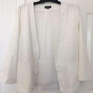 Zalora Blazer, White, Size M