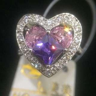 心型復古寶石戒指