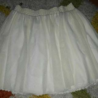 White Chiffon Skater Skirt