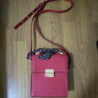 Zara Red Box Sling Bag