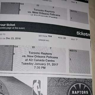 Raptors Ticket