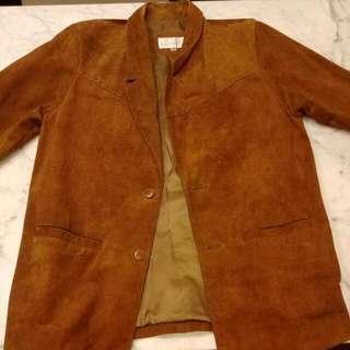 麂皮西裝外套