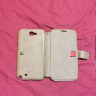 Samsung Note 2 Leather Flap Cover