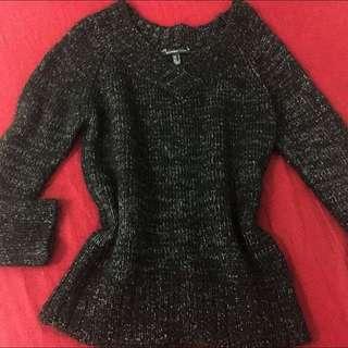 Mango Gray Casual Knit Sweater