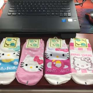 kaos kaki hello kitty import korea