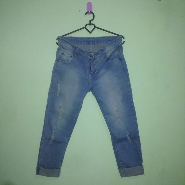 LMF 3/4 Rippes Jeans Woman