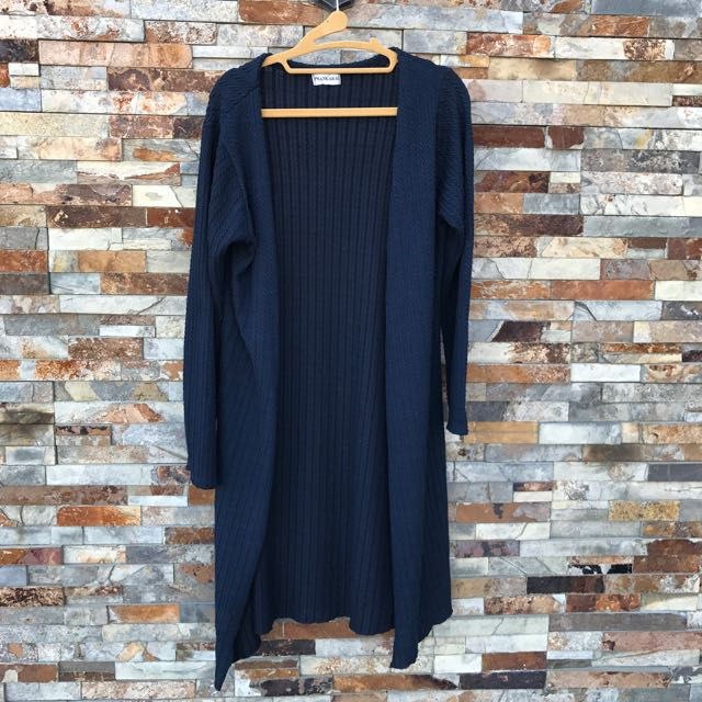 深藍針織罩衫