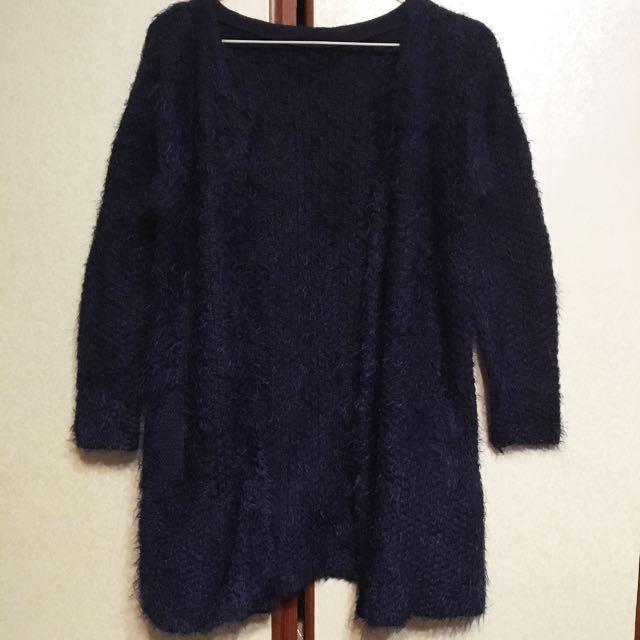 深藍色 針織外套