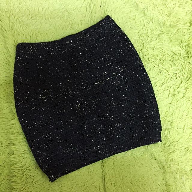針織 金蔥 短裙