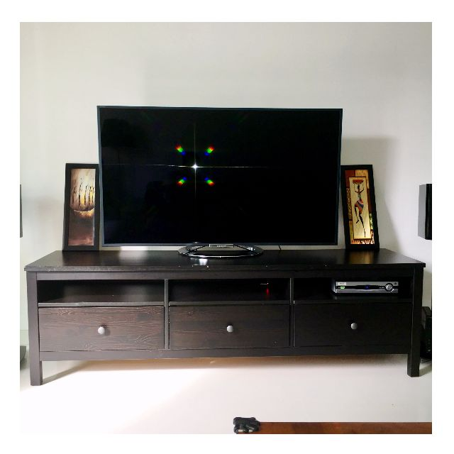 new product 6c7a6 3b346 FREE DELIVERY ) HEMNES TV Bench / Stand - Black Brown ...