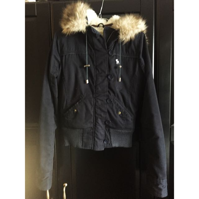 Abercrombie Dark Blackish/blue Jacket
