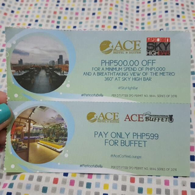 Ace Water Spa & Hotel Coupon / Gift Voucher