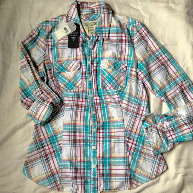 Authentic Guess Plaid Long sleeve Shirt