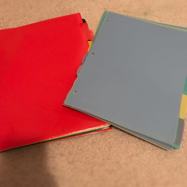 AVERY binder dividers