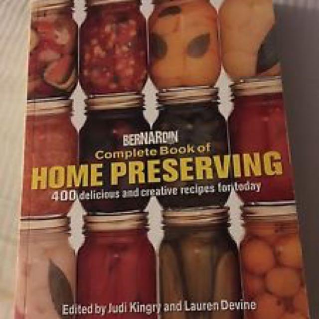 Bernardin Home Preserving Book