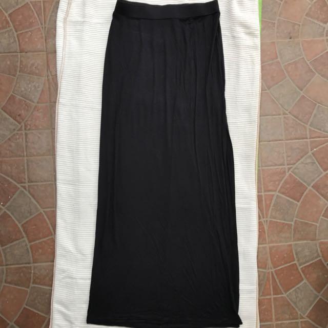 BERSHKA Long Skirt With SLIT- Size M