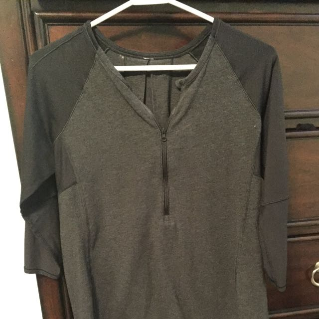 Black And Grey Lululemon Top