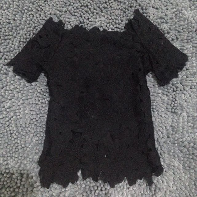Black Prada Sabrina Top