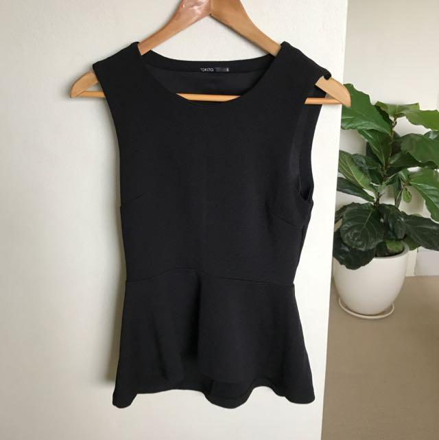 Black Tokito Top Size 8