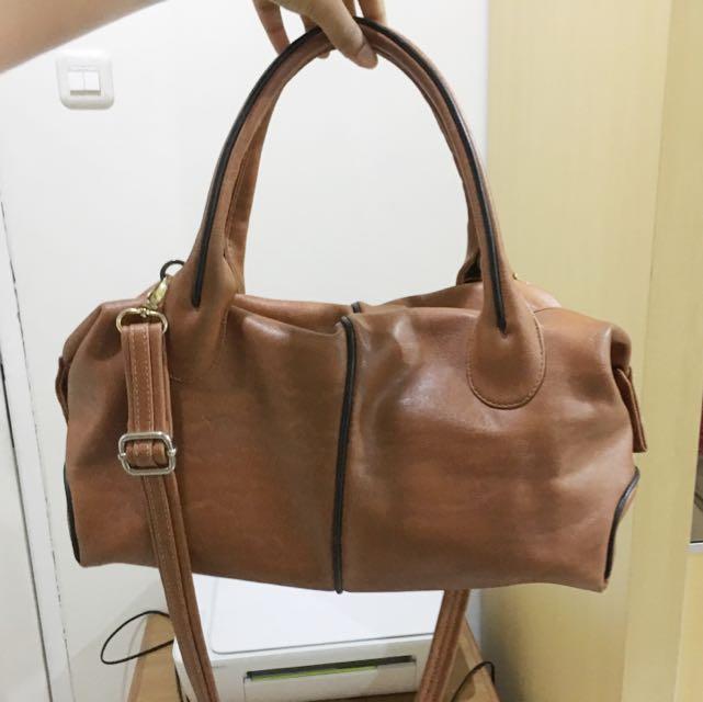 Brown Bowling Bag