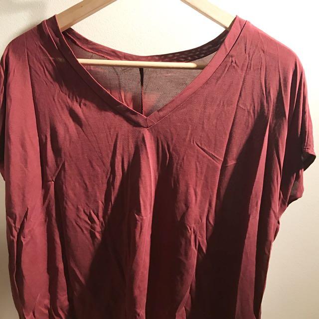 Burgundy Shirt From garage