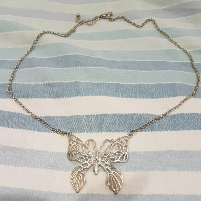 Butterfly Necklace Short Chain