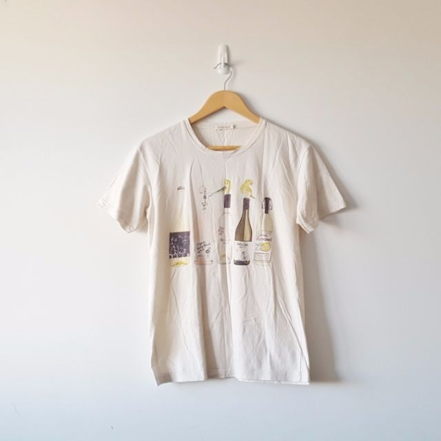 Camden Markets Vintage Look Bottle Print Tshirt