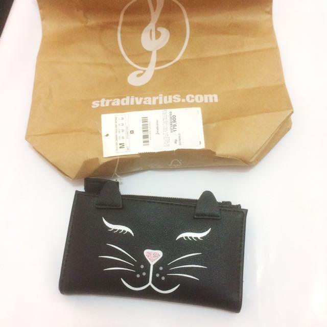 DOMPET KUCING STRADIVARIUS BARU 100% + free Shopping bag Stradivarius