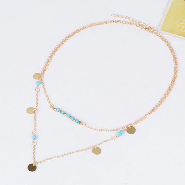 Etsy Forever 21 Beads Decorated Double Layer Necklace - Kalung Tumpuk