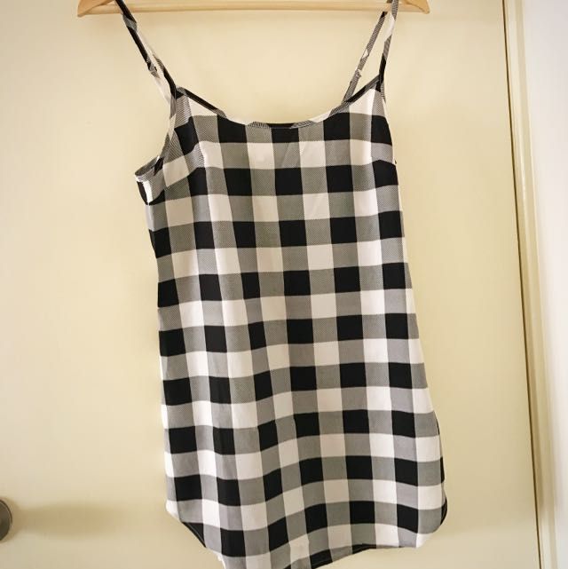 FINDERS KEEPERS Checkered singlet top/dress | XS