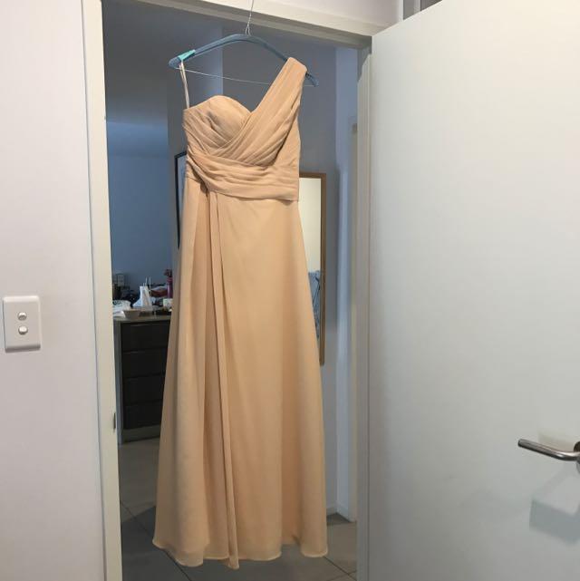 Floor Length Beige Dress