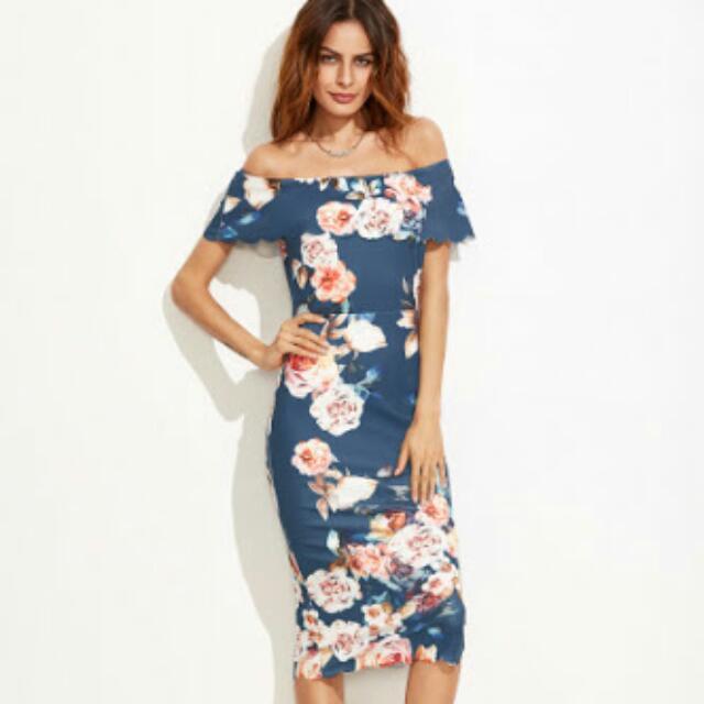 Floral off the shoulder dress size 12