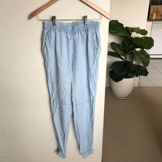 General Pants Co Light Blue / Denim Look Pants Size 8