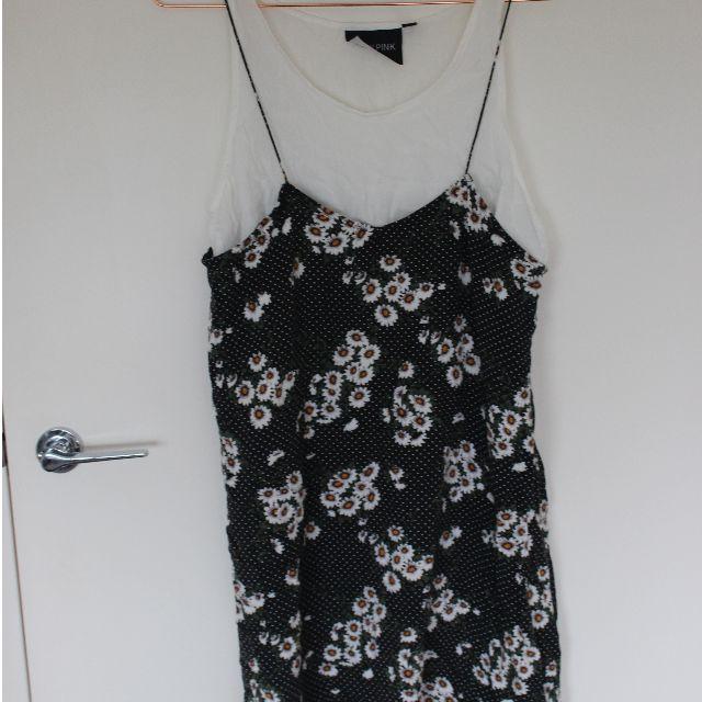 Glue 90's style daisy print layered dress