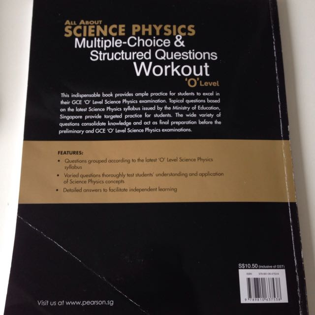 All about Science Physics, Multiple choice & Structured questions Workbook