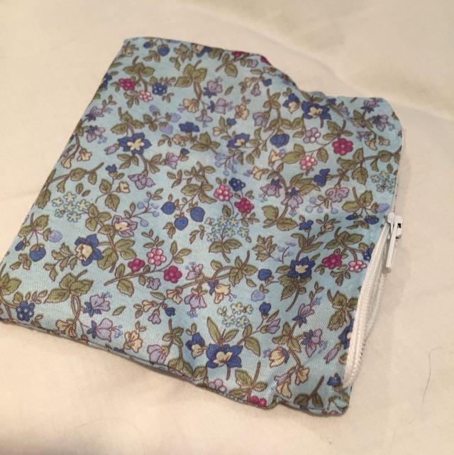 Handmade Flowered Pouch