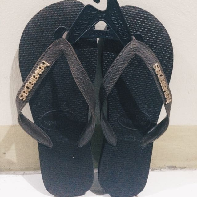 Havaianas Brown (with Gold Logo)