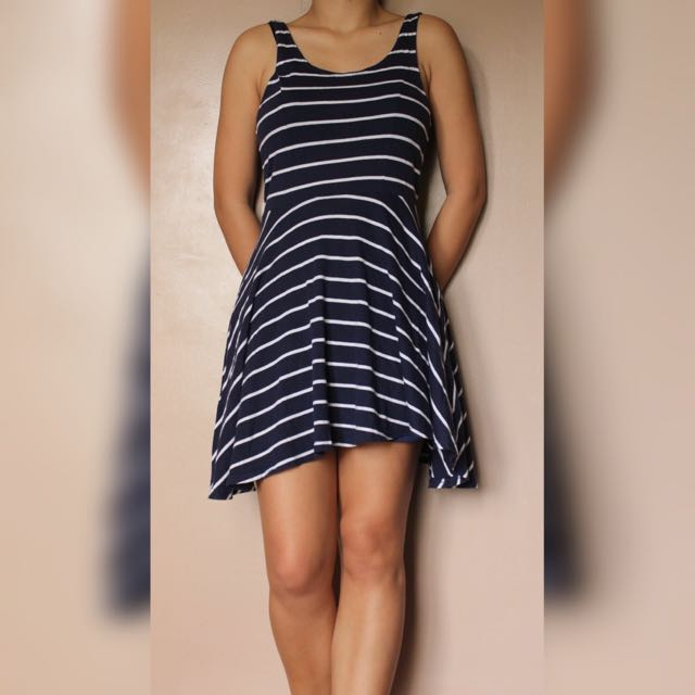 H&M Blue Stripe Dress