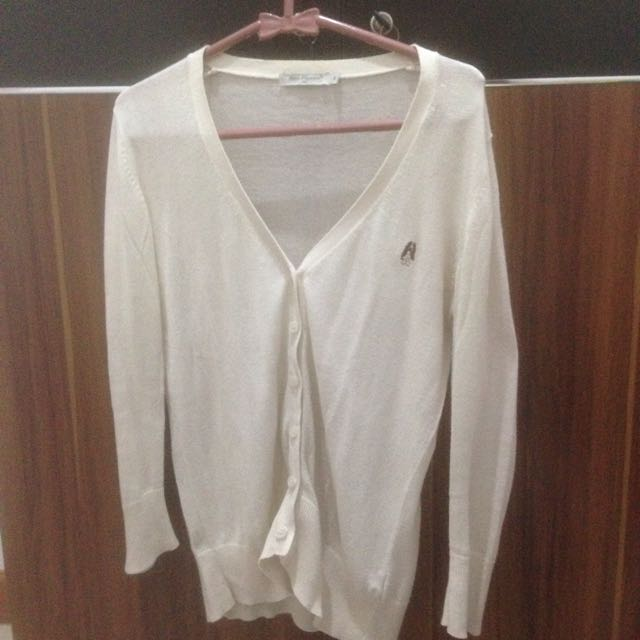 HUSH PUPPIES CARDIGAN WHITE
